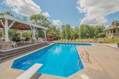 Jump in!  Crystal clear in-ground pool with optional heat.