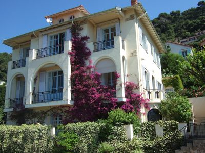 Photo for Lux 1 bedroom independent apartment in villa, pool, sea view Grasse