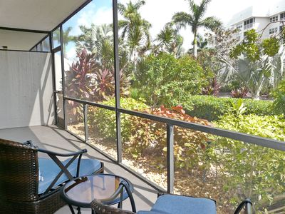 Photo for Peaceful first floor condo w/ heated pool & short walk to Tigertail Beach