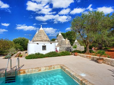 Photo for Stunning private villa with WIFI, private pool, panoramic view and parking, close to Ostuni