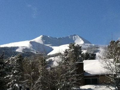 Photo for Ski-in to your front door.  Walk one block to downtown.