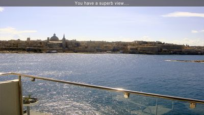 You have a superb view....