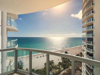 Photo for Stay Right On The Beach. Lovely Ocean View Unit for 2 Guests, Pool, Sauna