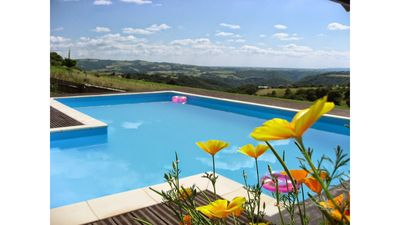 Photo for Gite Le Combal, Impregnable View, Heated Pool.