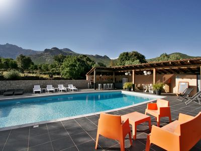 Photo for T2 ALBITRU in a Corsican villa, comfortable, quiet, with swimming pool.