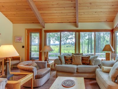 Photo for NEW LISTING! Peaceful mountain home w/shared pool & hot tub near hiking and more