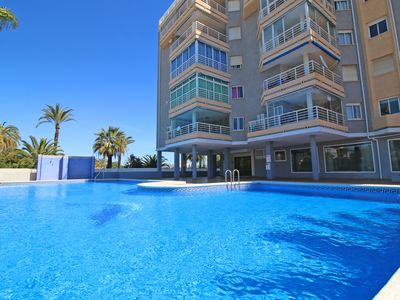 Photo for Great apartment with pool and terrace with sea views near the beach in Calpe