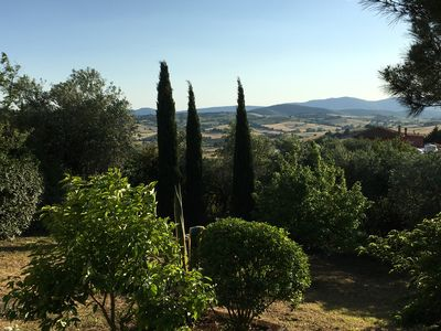 Photo for Villa with panoramic park in Montiano in Tuscany 12 km from the sea