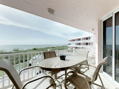 Photo for Waterfront condo w/ furnished balcony plus shared pool, easy beach access