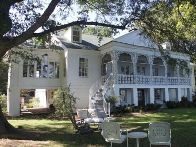 Lake side view of Snowden Mansion