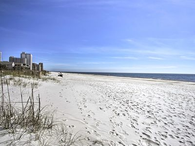 Photo for NEW! Beachfront Gulf Shores Condo w/ Pool Access!