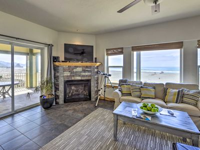 Photo for NEW! Oceanfront Gold Beach Home w/ Hot Tub & Deck!