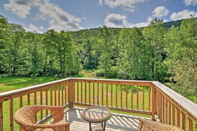 Enjoy the serenity of nature at this vacation rental house in Hunter, New York!