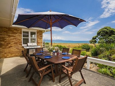 Photo for Wai Whare - Kuaotunu Absolute Beachfront Holiday Home