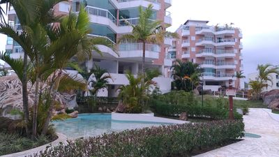 Photo for Apt in ITAGUA - 2 bedrooms and 1 suite with panoramic view to the sea !!!