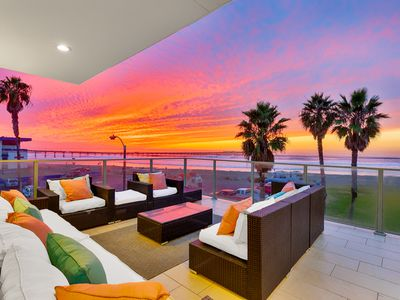 Photo for EASTER AVAIL - Stunning Oceanfront Condo, Surf & Sunset Views, Steps to Sand