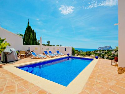 Photo for Argentario - sea view villa with private pool in Benissa