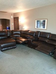 New Furniture summer of 2014. 3 recliners in sectional.