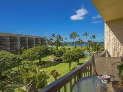 Photo for Maui Sunset A building, two bedroom with partial ocean views. A-408