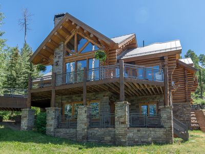 Photo for SLOPESIDE LODGE - Mountain Village Ski In/Out Lux Log Cabin