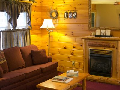Photo for Beautiful Cabin Suite with Kitchen, Fireplace, and Jacuzzi In Amish Country!
