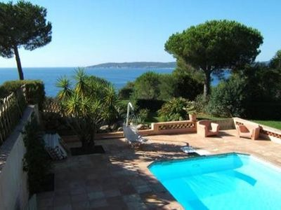 Photo for Traditional Provencal villa with unique view of Pampelonne Bay