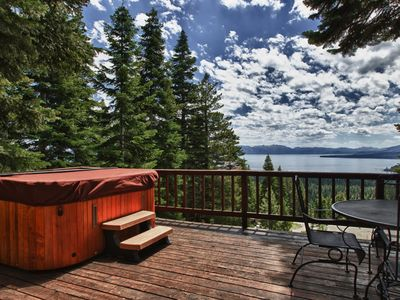 Photo for Peaceful getaway home with hot tub and panoramic lake view!