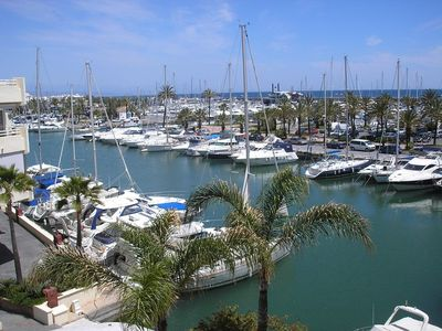 Photo for PUERTO MARINA APARTMENT, Panoramic pool facing the sea, Terrace with views