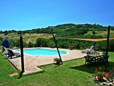 Photo for Typical stone farmhouse with private pool in the heart of Tuscany