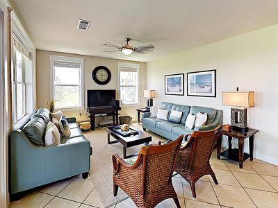 Photo for New Listing! Pointe West Getaway w/ Pool, Hot Tub & Gulf View: Steps to Beach