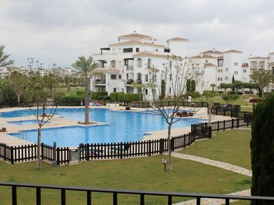 Photo for La Torre Golf Resort, fabulous 2 bed 1 bath apartment with pool view.