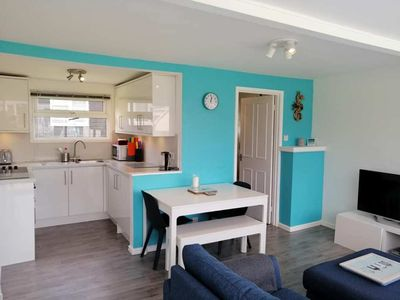 Photo for Chalet Ho!  2-bedroom, sea-view chalet, 1 min from the sea & SW Coast Path