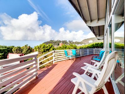Photo for Dog-friendly house with ocean views and a private hot tub!