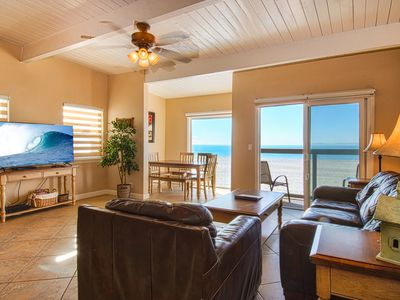 Photo for Bright & cheery oceanfront upper unit with amazing location for fun in the sun!
