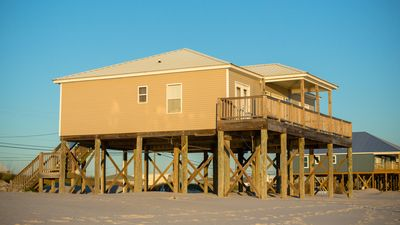 Photo for Gulf Beachfront On West End Of Dauphin Island With Beautiful Views, 4 Bedrooms!