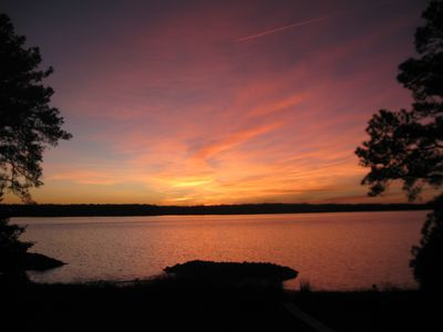 Photo for Cozy Cabin Getaway with Beautiful Sunsets on York River, minutes from Yorktown
