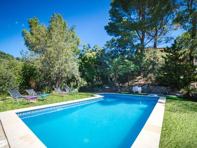 Photo for This 3-bedroom villa for up to 7 guests is located in Esporles and has a private swimming pool, air-