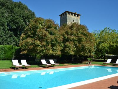 Photo for Cozy cottage with garden and pool on grounds of beautiful castle near Siena.