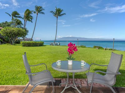 Photo for Oceanfront condo w/ lanai, amazing views & shared pool - steps to the beach!