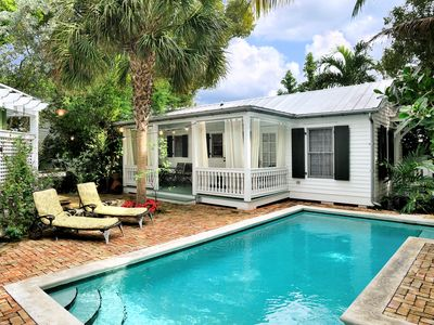 Photo for Vintage Luxury Cottage ~ Hidden Duval Street Location - Private Pool