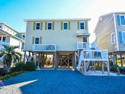 Photo for Holden Sands is a wonderful Beach Front Cottage Home with 4 bedrooms, 3 full baths, a Large Dune Front Deck and Spectacular Views of the Atlantic!