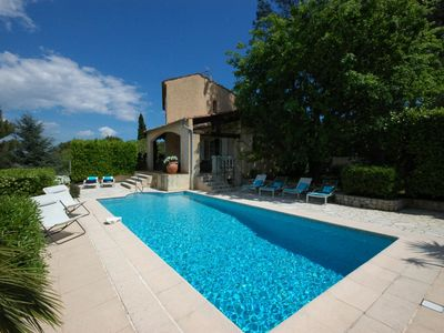 Photo for Peymeinade Villa, Sleeps 8 with Pool, Air Con and WiFi