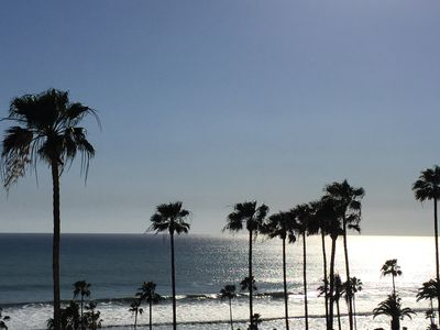 Enjoy the view of the surf, palm trees and  sunsets from our 3rd floor patio.