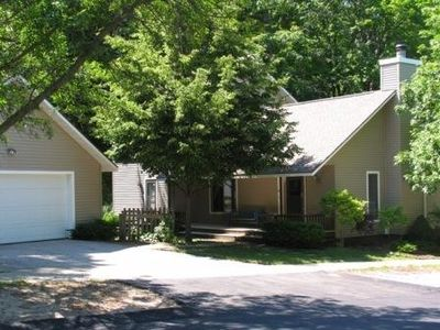 Photo for Beulah Vacation Rental- 1 Blk. to Crystal Lake ~A/C~- WiFi Internet- Sleeps 9-11