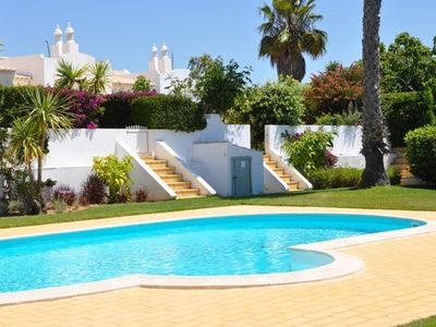 Photo for Fantastic villa in Meia Praia with terraces, pool and garden 500 m from the sea