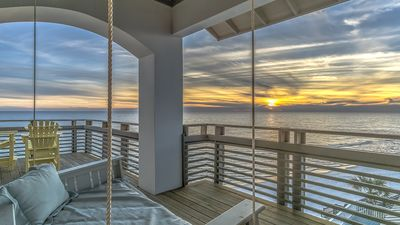 "Photo for ""Cypress Beach"" Gulf Front House + Carriage House, Sleeps 21! Spa, Pool,Elevator"