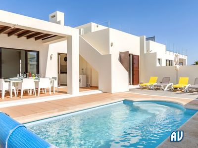 Photo for With wifi, garden area, private heated pool and secluded upper roof terrace...