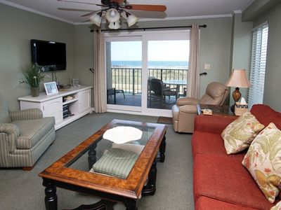 Photo for Tidemaster 106, Spacious 3 BR Condo with Beautiful Ocean Front Views, Outdoor Swimming Pool and Kiddie Pool