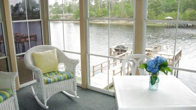 Photo for **1BR Ground Floor**Waterway Views!! Watch the boats pass on the Screened Deck!