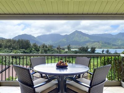 Photo for Hanalei Bay Resort #9323/4 - Ocean views of Hanalei Bay with A/C!